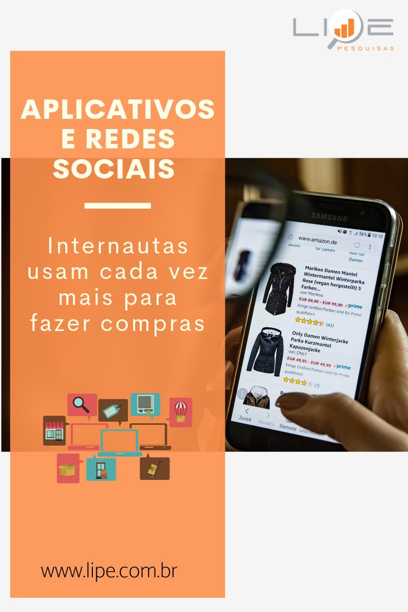 Aplicativos e redes sociais - compras online
